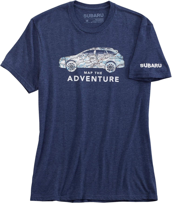 SUBARU Genuine Logo Map The Adventure Tee Shirt T Impreza STI WRX Forester Outback Ascent Legacy Crosstrek BRZ Small