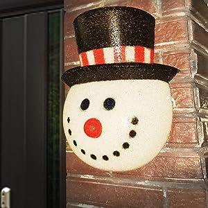 Joliyoou Snowman Porch Light Cover, 12