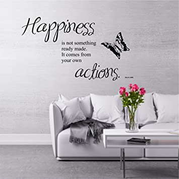 Greenluup Wandtattoo Spruche Dalai Lama Zitat Happiness Gluck