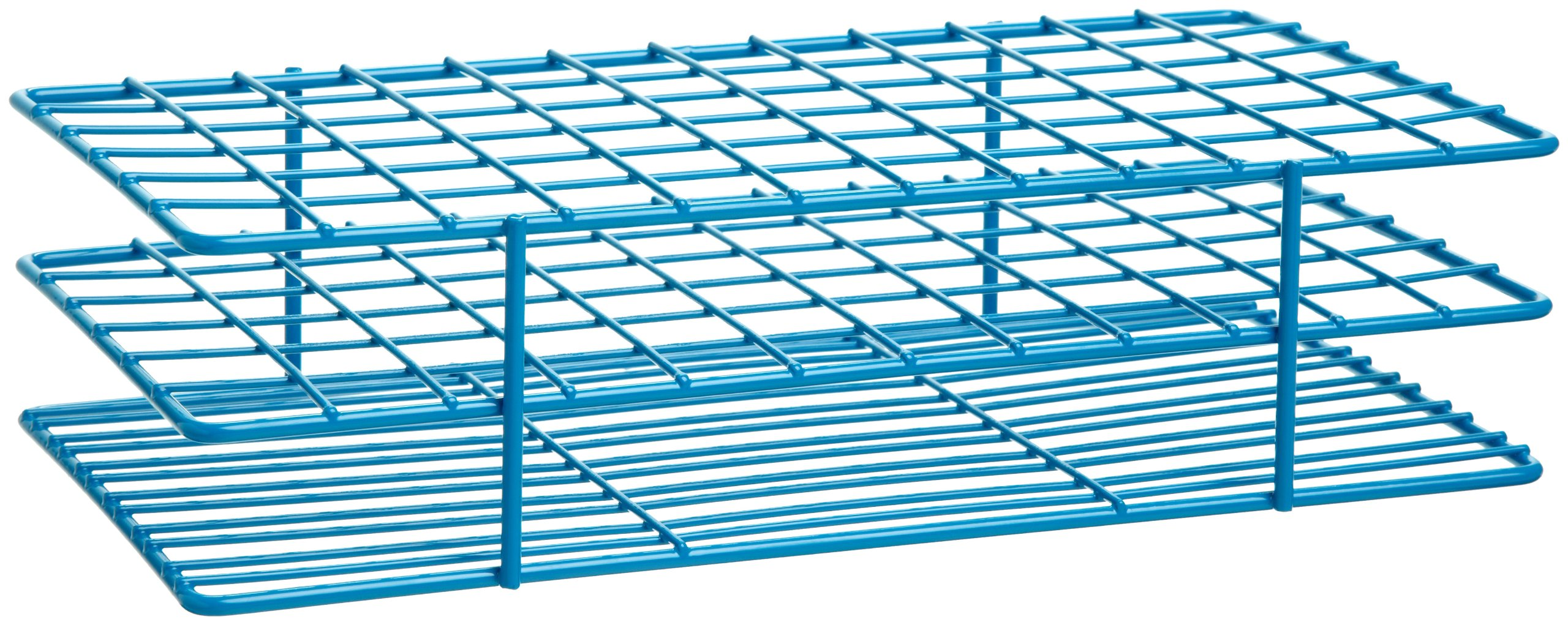 Bel-Art F18757-0001 Poxygrid Test Tube Rack; 13-16mm, 72 Places, 9¹/₂ x 5¹/₈ x 2¹/₂ in., Blue by SP Scienceware