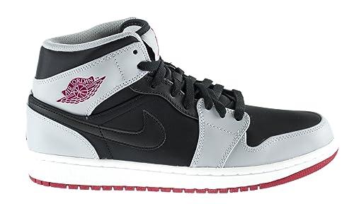 new appearance hot sale online low priced Amazon.com | Jordan Air 1 Mid Men's Basketball Shoes Black ...