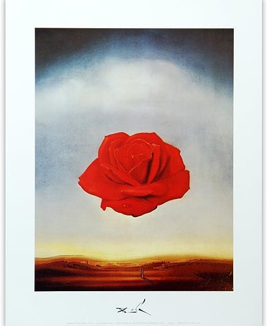 Salvador Dali Rose Canvas Wall Art Picture Print