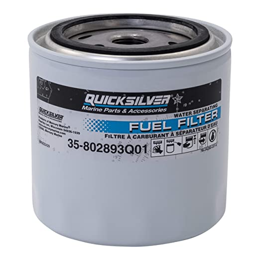 amazon com: quicksilver 8m0079962 high capacity water separating fuel filter  element: sports & outdoors