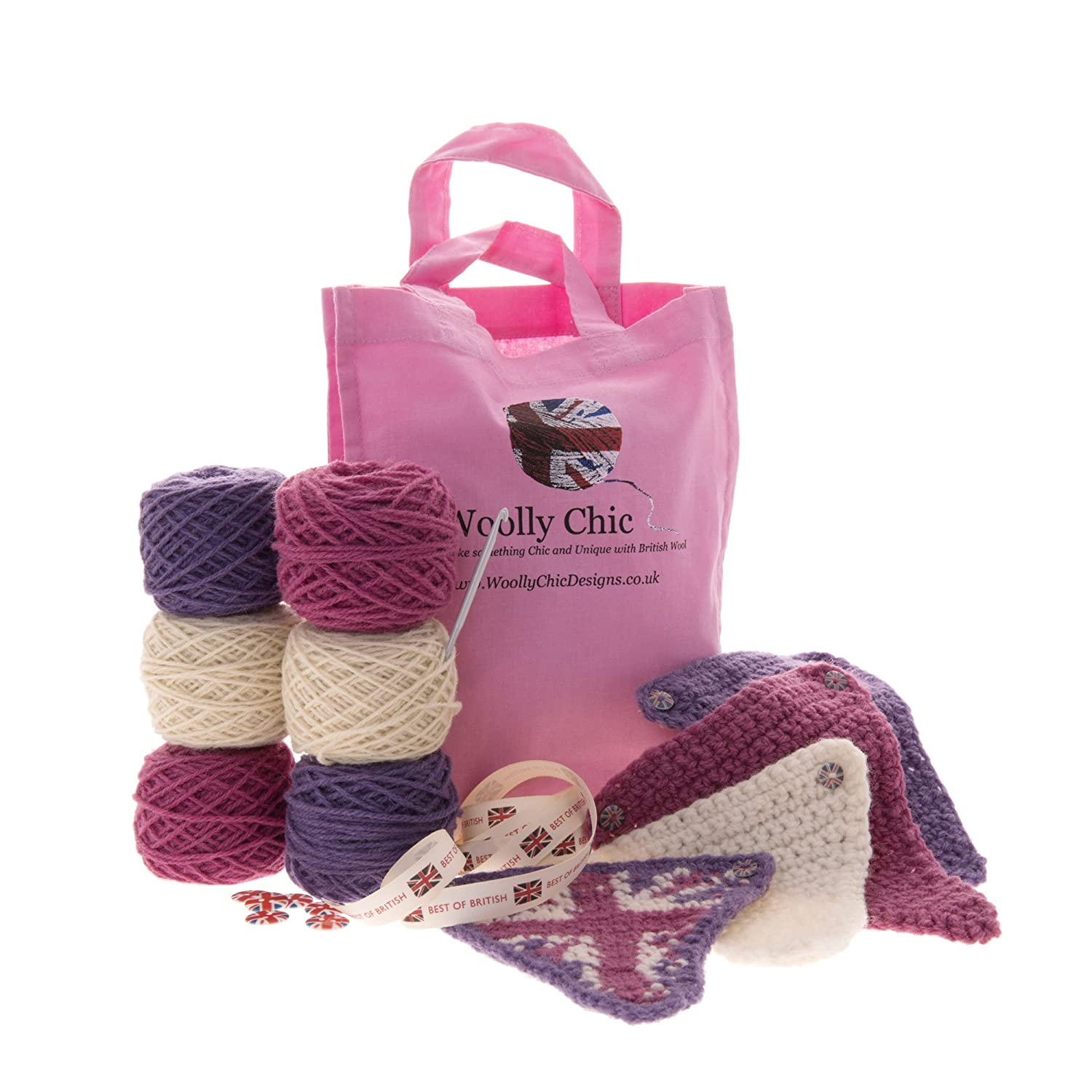Learn to Crochet Bunting Kit with British Wool Woolly Chic