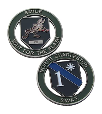 Amazon com: North Charleston S W A T  Challenge Coin: Toys & Games