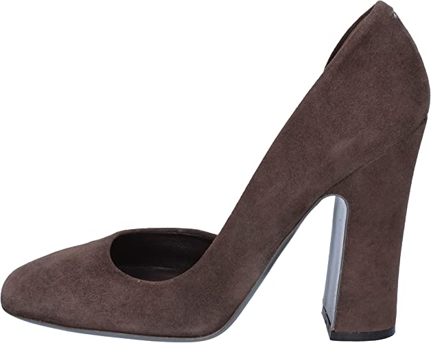 Halston Pumps-Shoes Women Suede Brown 3