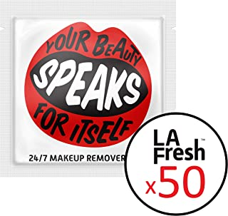 product image for LA Fresh 24/7 Makeup Remover Travel Friendly Wipes - Waterproof Facial Towelettes, No Paraben, Individually Wrapped Packets (50 Packets)