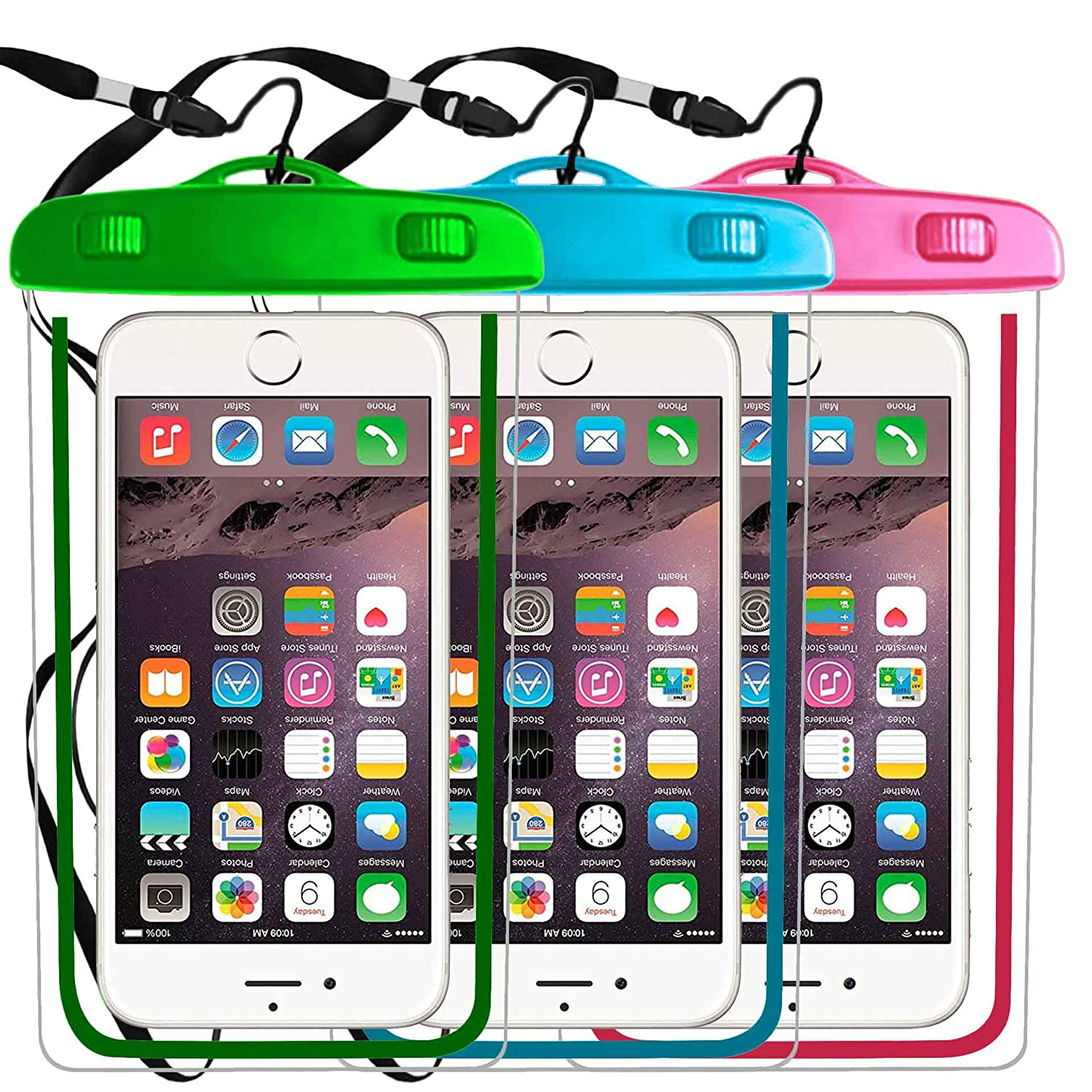 timeless design 1c504 52bee Amazon.com: 3 Pack Universal Waterproof Case,Phone Pouch Dry Bag ...