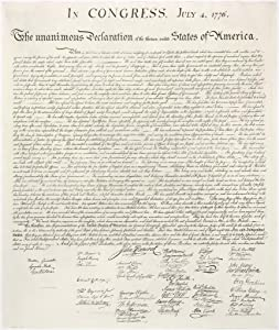 Declaration of Independence United States Continental Congress Philadelphia 1776 Cool Wall Decor Art Print Poster 30x36