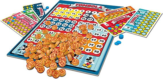 Clementoni - Tombola 90s Mickey Mouse Disney - Juego de Mesa, Multicolor, 16556: Amazon.es: Juguetes y juegos