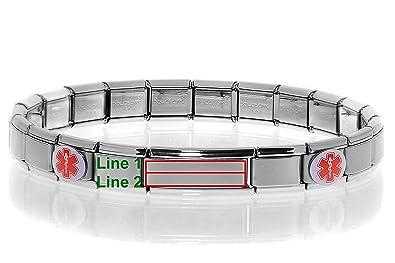 Medical Alert Bracelet >> Amazon Com Dolceoro Customize Your Condition Medical Alert Bracelet