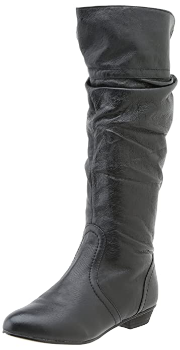 7d795a8a7c5 Steve Madden Women s Candence Slouch Boot Black Leather 6 ...