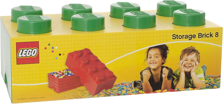 Lego 40041734 - Caja en forma de bloque de lego 8, color verde [importado de Alemania]: Amazon.es: Juguetes y juegos