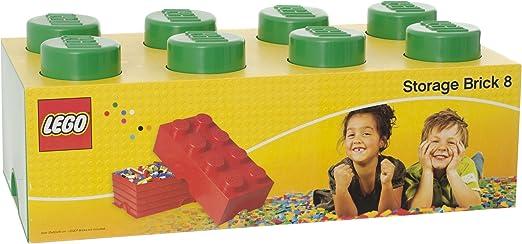 Lego 40041734 - Caja en forma de bloque de lego 8, color verde ...