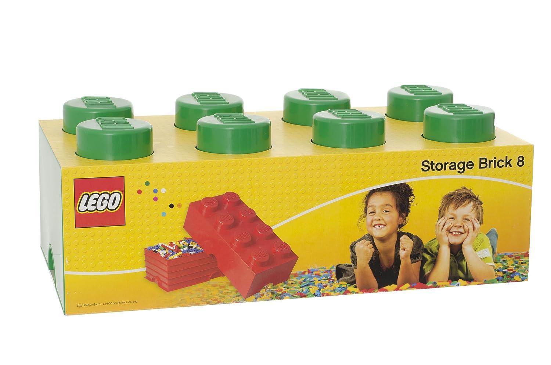LEGO Storage - Mattone Cesta Contenitore di archiviazione da 8 bottoni, colore Verde Room Copenhagen FBA_L4004G