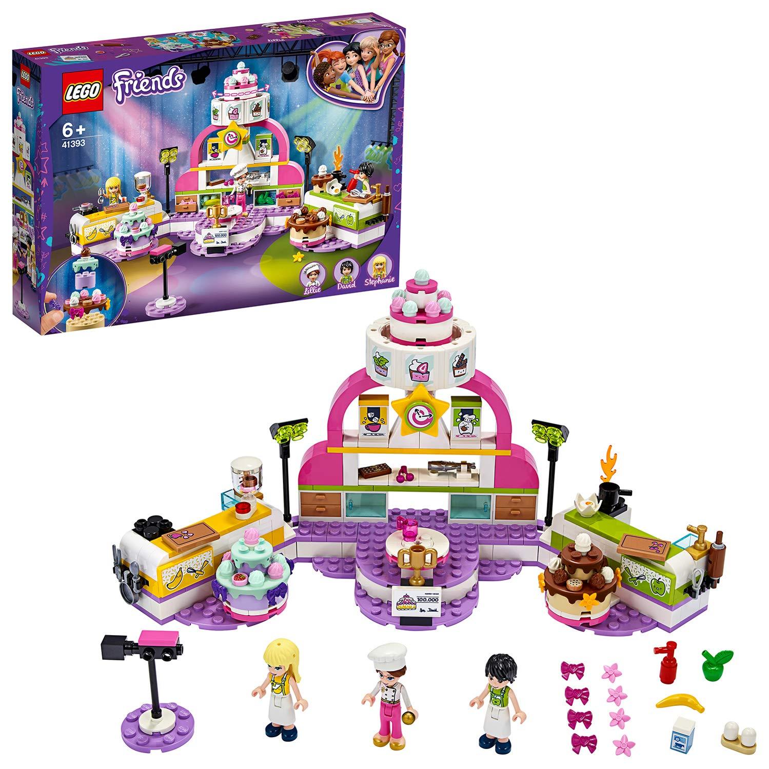 LEGO41393FriendsBakingCompetitionPlaysetwithToyCakes,CupcakesandStephanieMiniDoll,for6+YearOld
