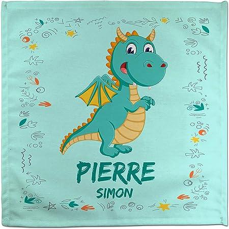 Rentr/ée Scolaire Fille Gar/çon Serviette de Table Dragon Personnalis/ée au Pr/énom Dragon Divers mod/èles