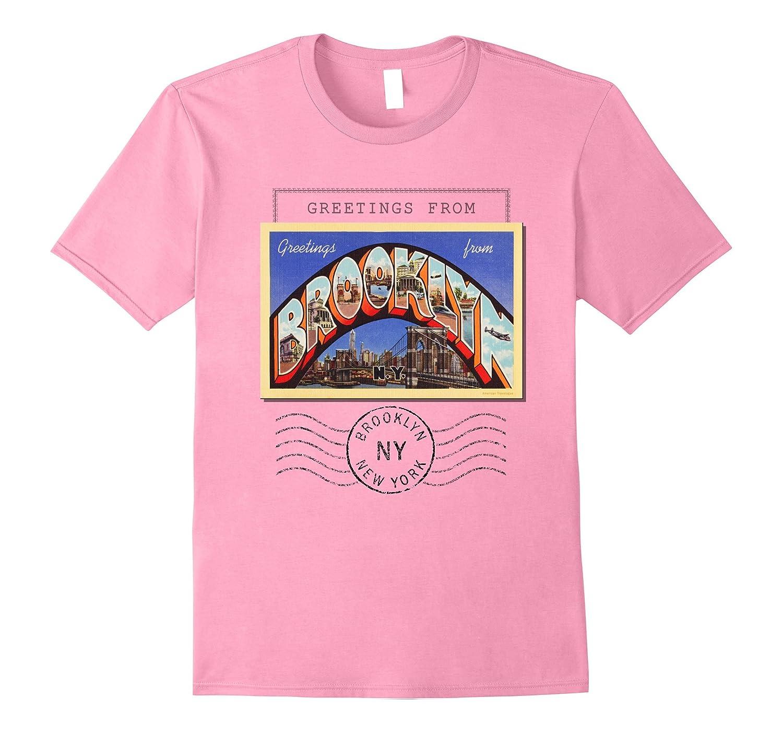 Brooklyn New York NY Travel Souvenir Postcard Tshirt-FL
