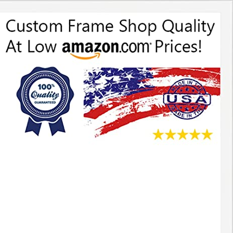 Amazon.com - 13x20 Contemporary White Wood Picture Frame - UV ...