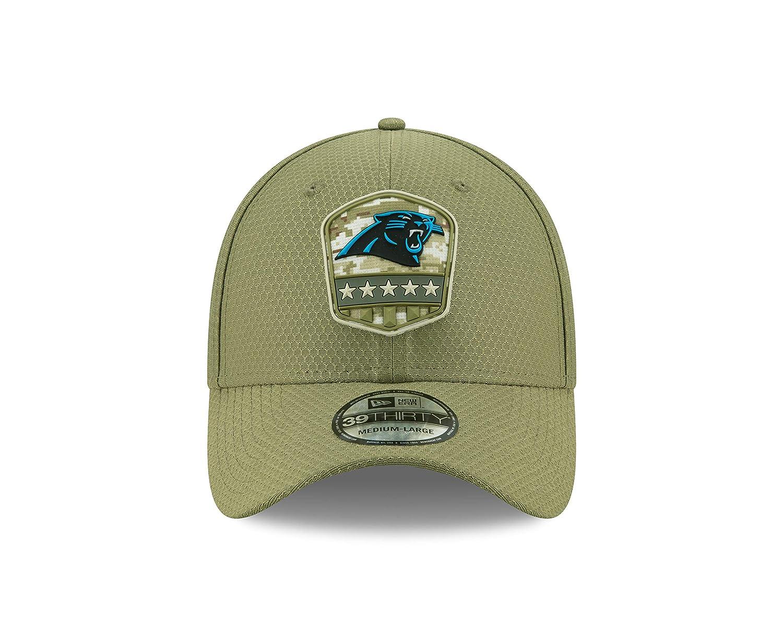 New Era Carolina Panthers 39thirty Stretch Cap On Field 2019 Salute to Service