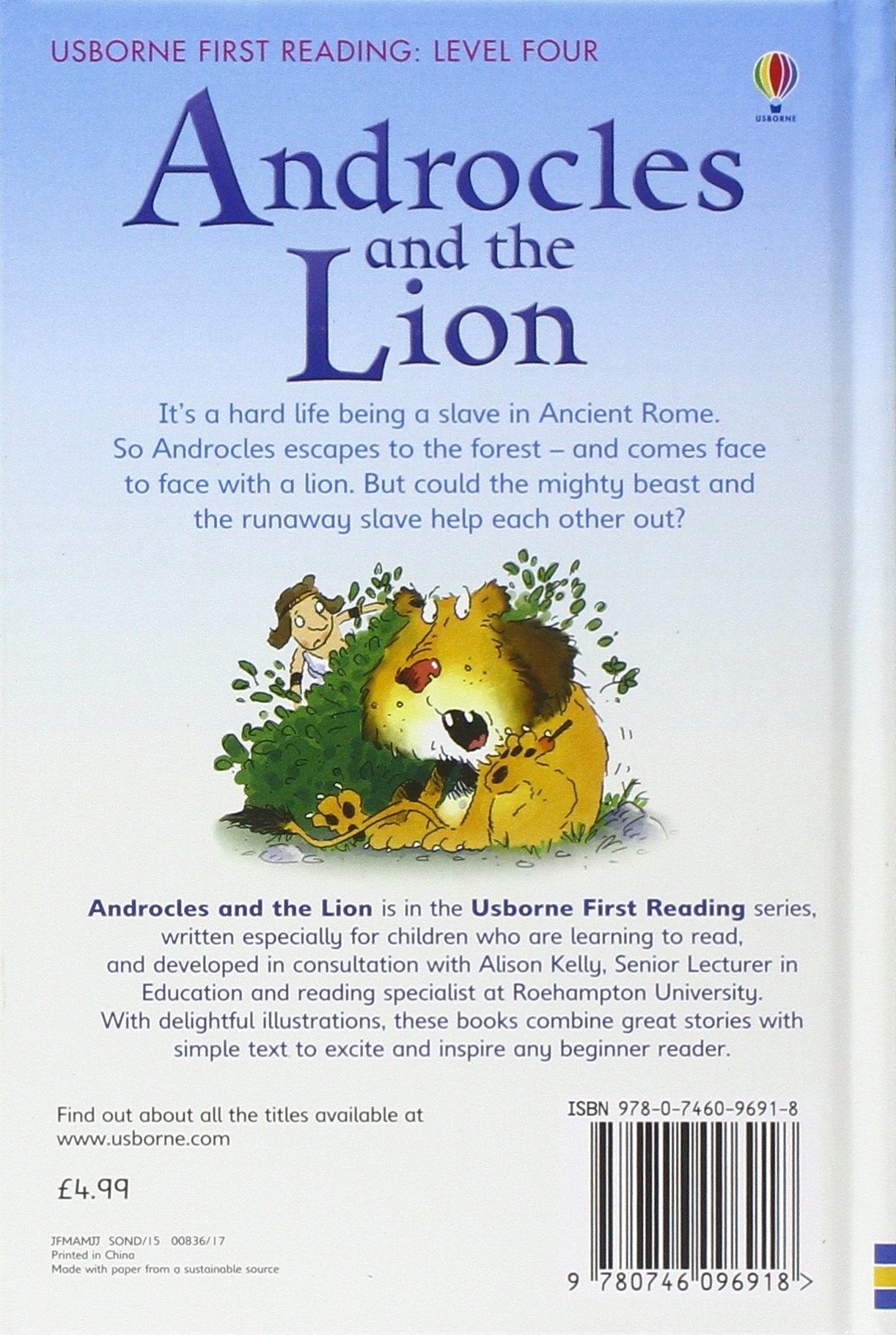 androcles and the lion story in english