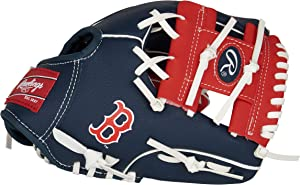 Rawlings MLB Team Logo Youth Glove Series, Right Hand Throw, 10 inches, (All Team Options)