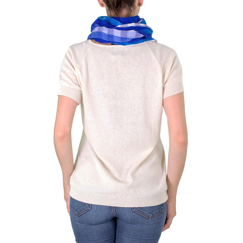 NOVICA Blue 100% Cotton Scarf, 'Guatemala Sky'
