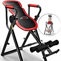 Sportstech Table d'Inversion Multifonctions IT300 Musculation Traction 6-en-1, Muscles dorsaux, Barre de Traction, Repliable, Montage Simple, Banc de Musculation 0° - 90° Levier Intelligent
