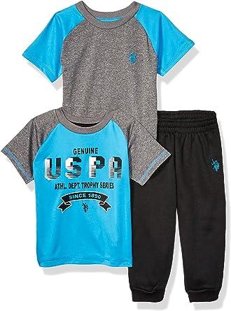 T-Shirt Boys Short Sleeve Athletic U.S and Jogger Set POLO ASSN