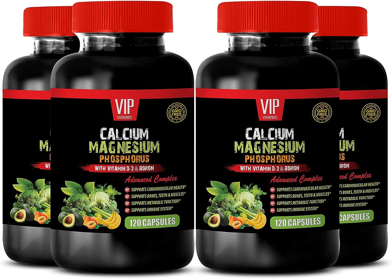 Vitamin d-3 Bone and Immune Health - Calcium Magnesium Phosphorus Vitamin D-3 & Boron - Calcium and Magnesium w d3-4B (480 Capsules)