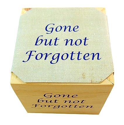Amazon.com  Gone But Not Forgotten Memorial Flower Pot Plant Wooden Cube with Forget Me Not Seeds  Garden \u0026 Outdoor  sc 1 st  Amazon.com & Amazon.com : Gone But Not Forgotten Memorial Flower Pot Plant Wooden ...