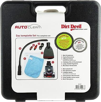 Dirt Devil Juego de cuidado de Auto M277 Auto Clean 6 piezas, aspirador Interior Cuidado: Amazon.es: Coche y moto