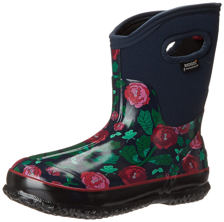 Bogs Women's Classic Rose Garden Mid Winter Snow Boot