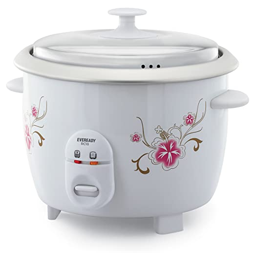 Eveready 1.8 L 650 Watt Electric Rice Cooker (RC18) Rice & Pasta Cookers at amazon