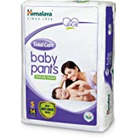 Himalaya Total Care Small Size Baby Pants Diapers (White, 54 Count)