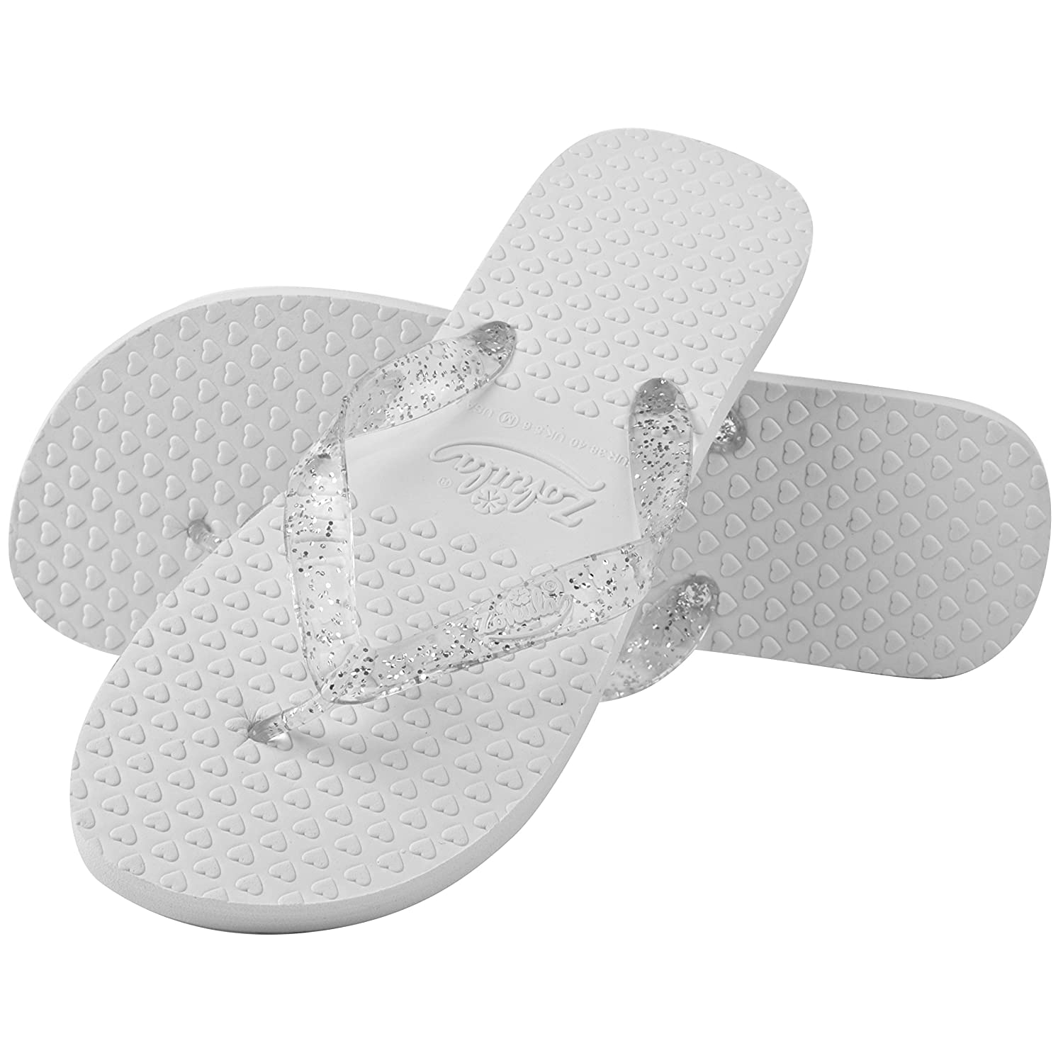 469a83752771dc Zohula Wedding Premier Flip Flops Party Pack - 20 Pairs - 3 Pairs 3-4 (S)  12 Pairs 5-6 (M) 5 Pairs 7-8 (L) - Including Basket White  Amazon.co.uk   Shoes   ...