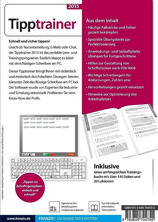 Franzis Verlag Tipptrainer 2015 Amazonde Software