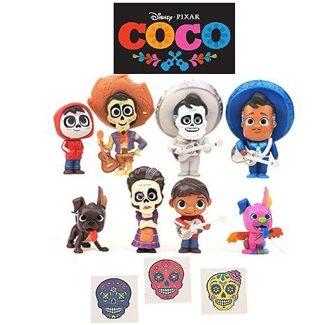 Toy Play Fun 2018 New 8pcs Set Movie Coco Pixar Miguel Riveras