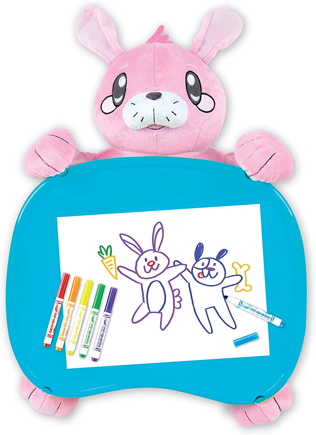 6 Gift for Kids 7 5 Age 4 Crayola Travel Lap Desk with Storage Bunny Stuffed Animal
