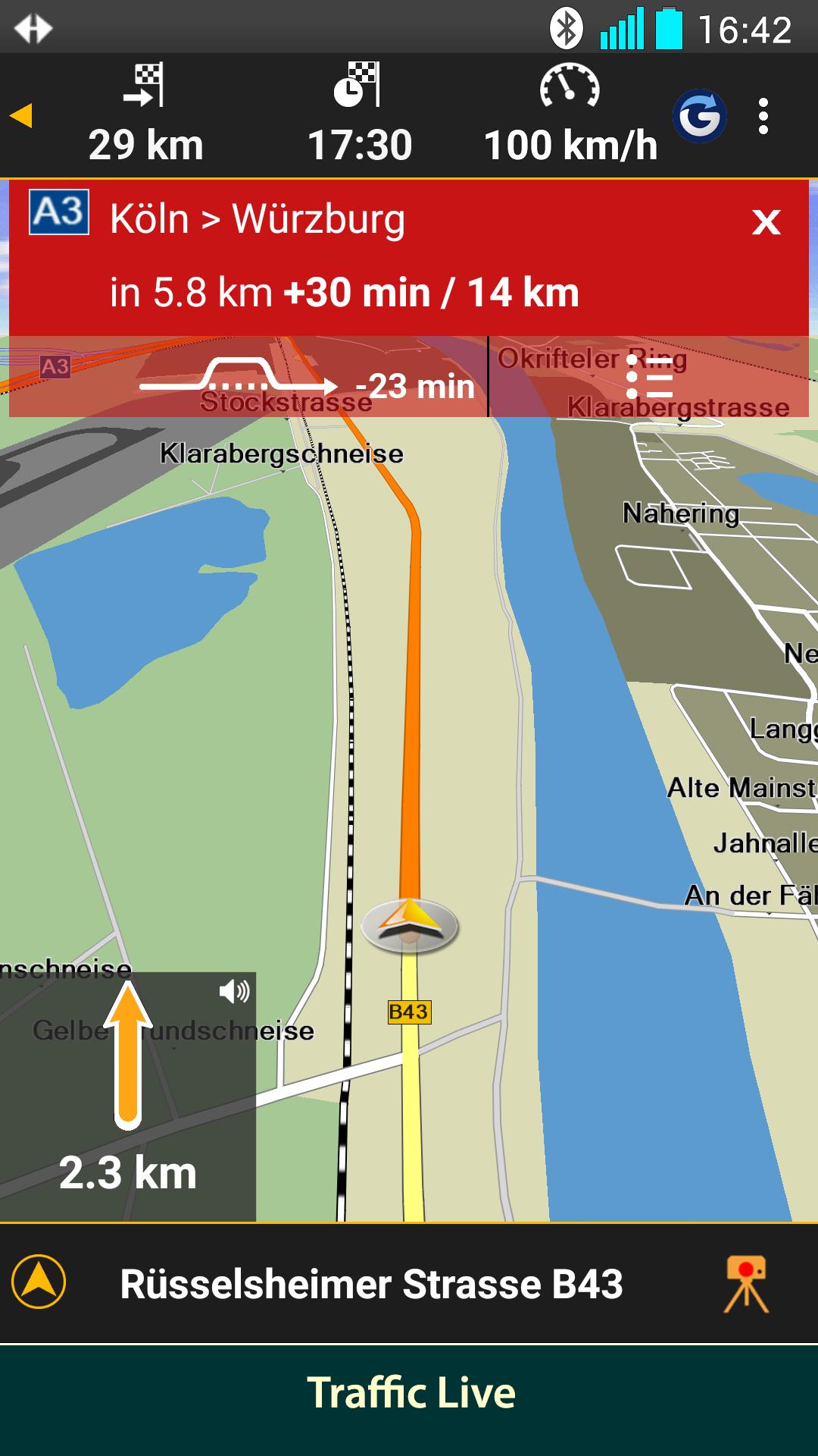 NAVIGON Europe Screenshot