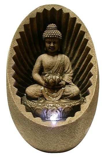 Good Alpine WIN322 Buddha Tabletop Fountain With LED Light