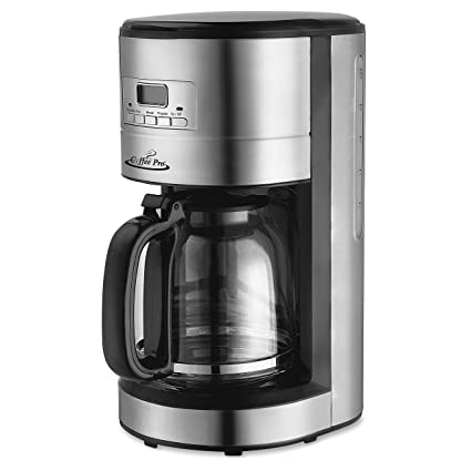 Amazon.com: Stainless Steel Drip Coffee Maker, Programmable ...