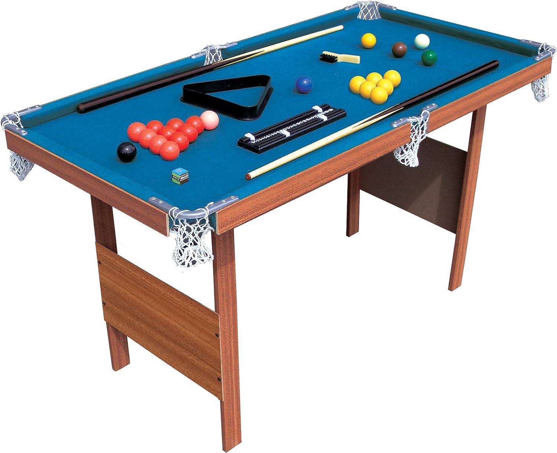 Hy-Pro - Mesa de Billar Snooker (0,9 m), Color Verde y marrón: Amazon.es: Deportes y aire libre