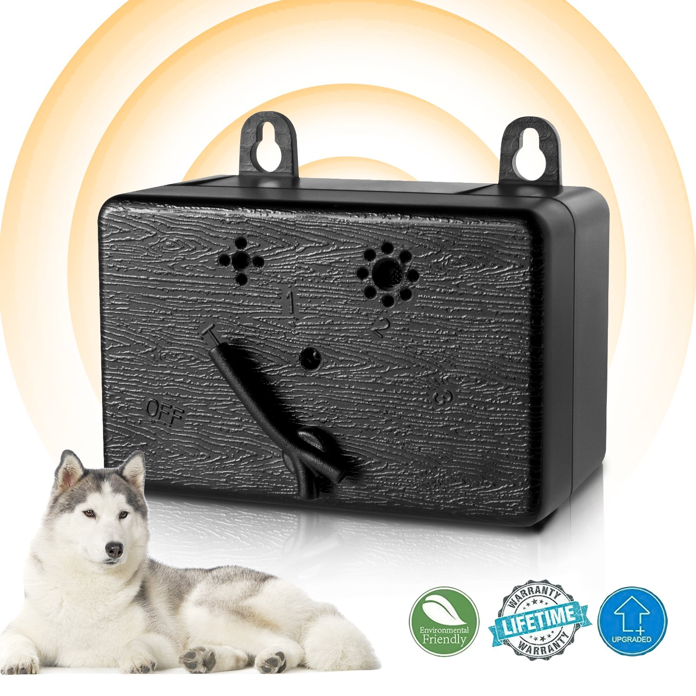 Lambow Mini Bark Control Device Outdoor Anti Barking Deterrent Ultrasonic Dog Bark Control Sonic Bark Deterrents Silencer Stop Barking Bark Stop Repeller (NEW VERSION)
