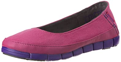 19fd2a58e crocs Women s Stretch Sole Flat W Vibrant Violet and Ultraviolet Ballet  Flats - W6 (15317