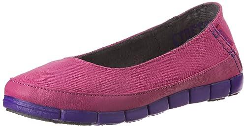 02b5a2df0e1fdc crocs Women s Stretch Sole Flat W Vibrant Violet and Ultraviolet Ballet  Flats - W6 (15317