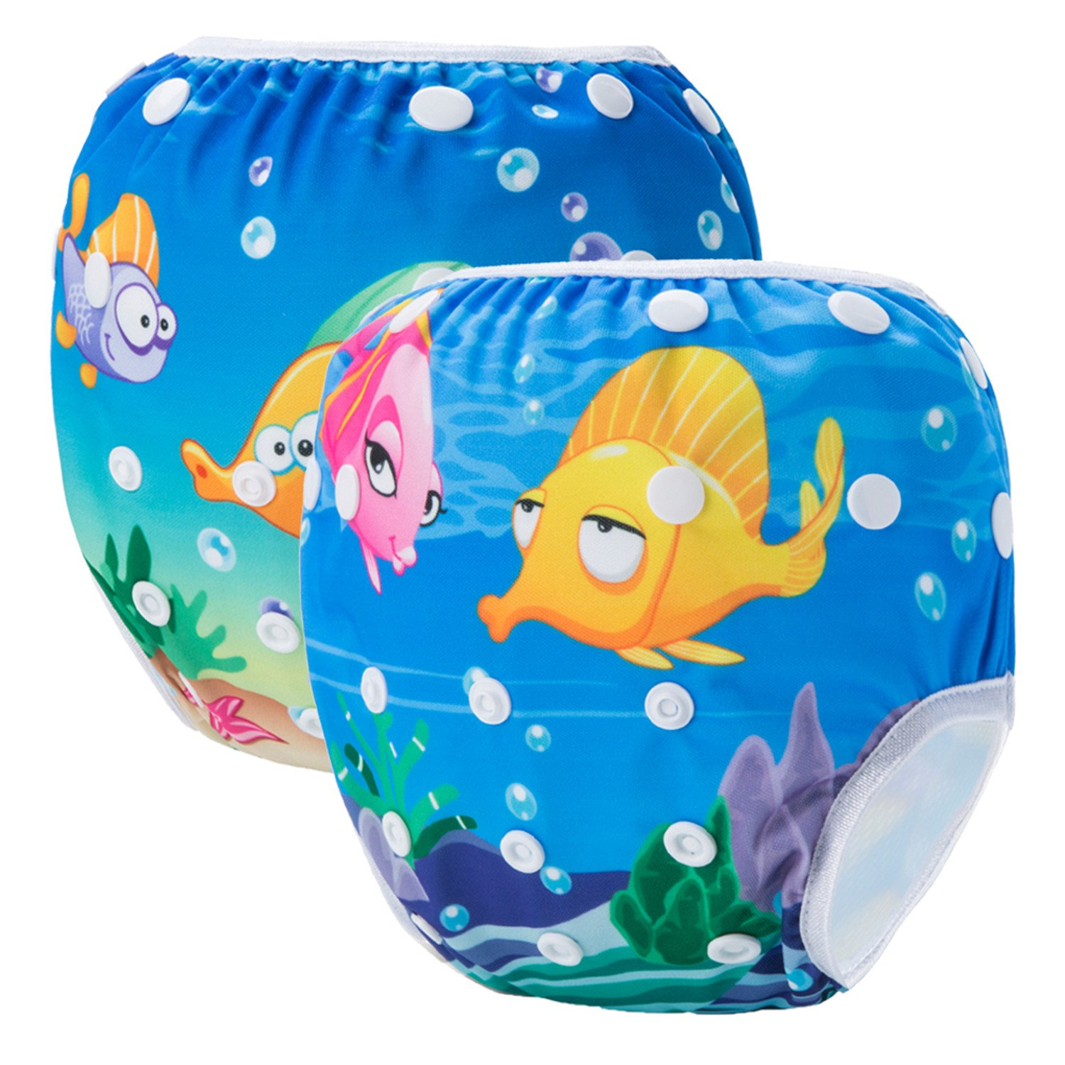 Storeofbaby Reusable Swim Diapers for Unisex Baby Adjustable Swimming Pants 0-3 Years