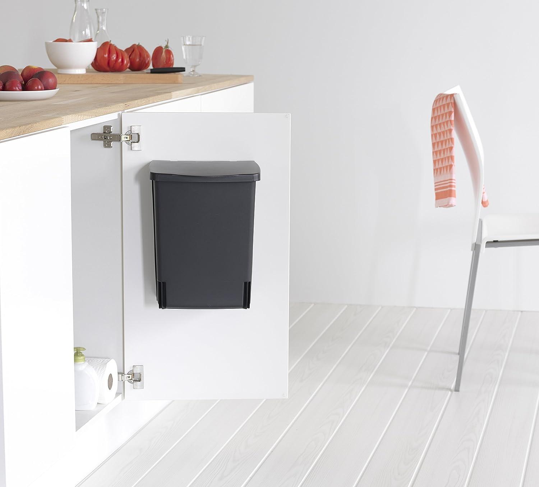 Brabantia Einbau Mülleimer 10 Liter schwarz Amazon Küche