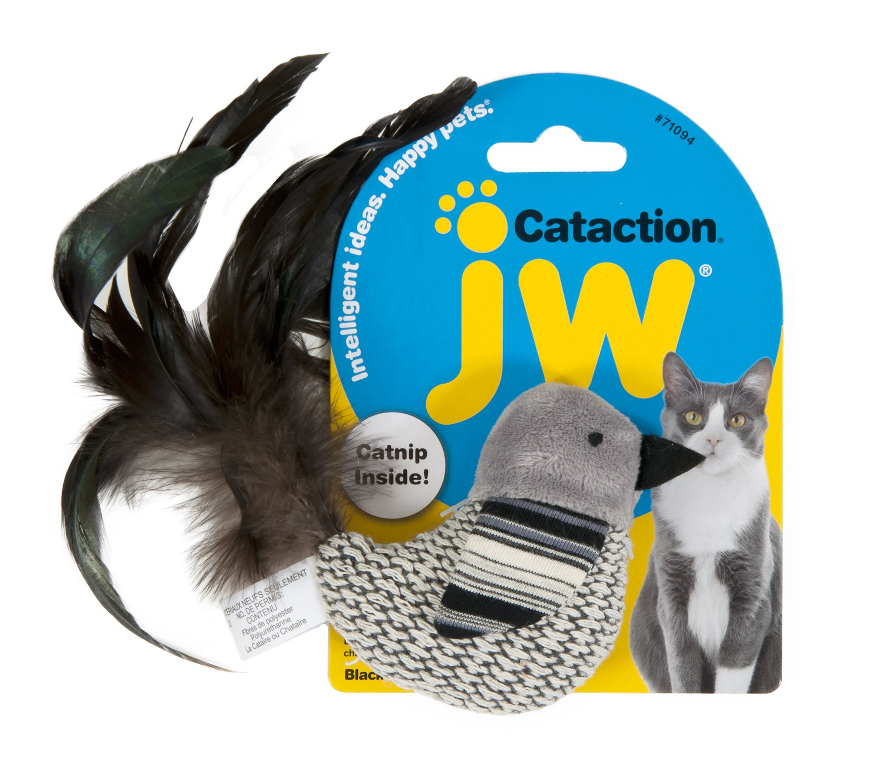JW Pet Cataction Bird Toy, Black/White
