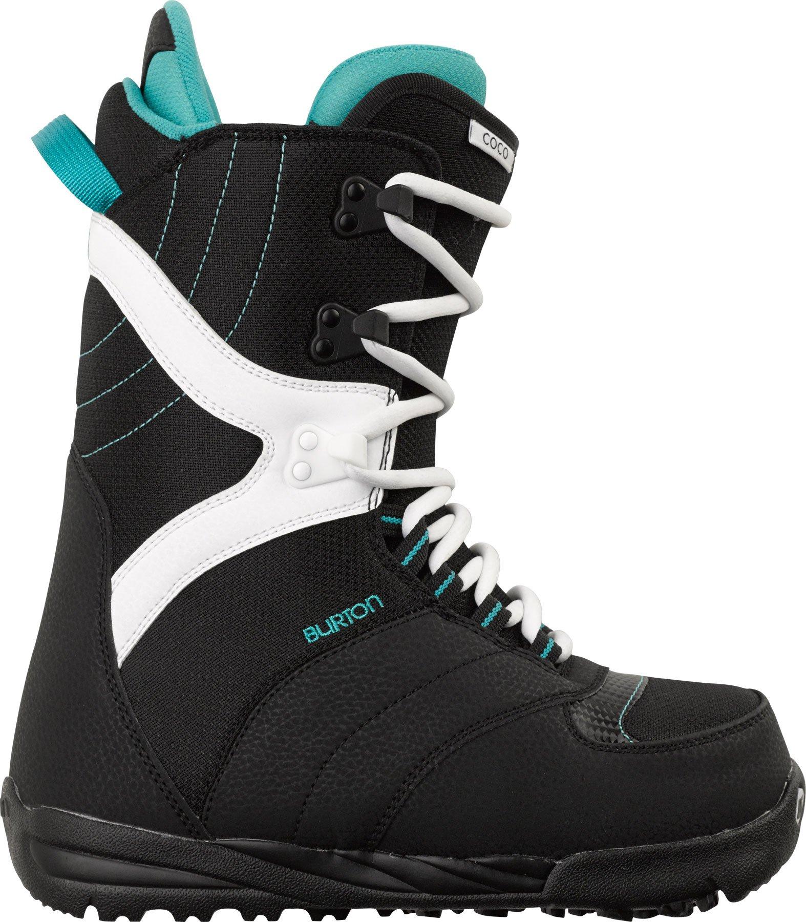 Burton Coco Snowboard Boot 2014, Black/White, 4